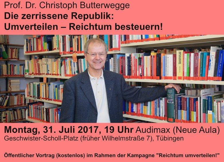 Prof. Dr. Christoph Butterwegge: Die zerrissene Republik: Umverteilen – Reichtum besteuern!