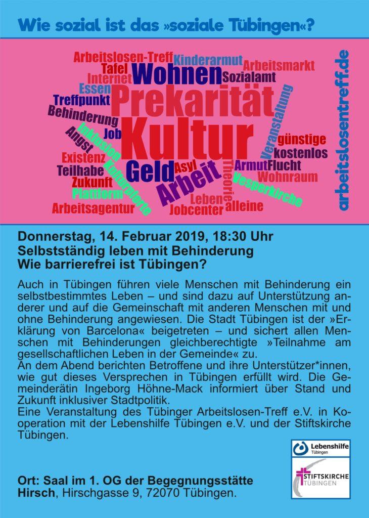 Do, 14.02.: Selbstständig leben mit Behinderung: Wie barrierefrei ist Tübingen?