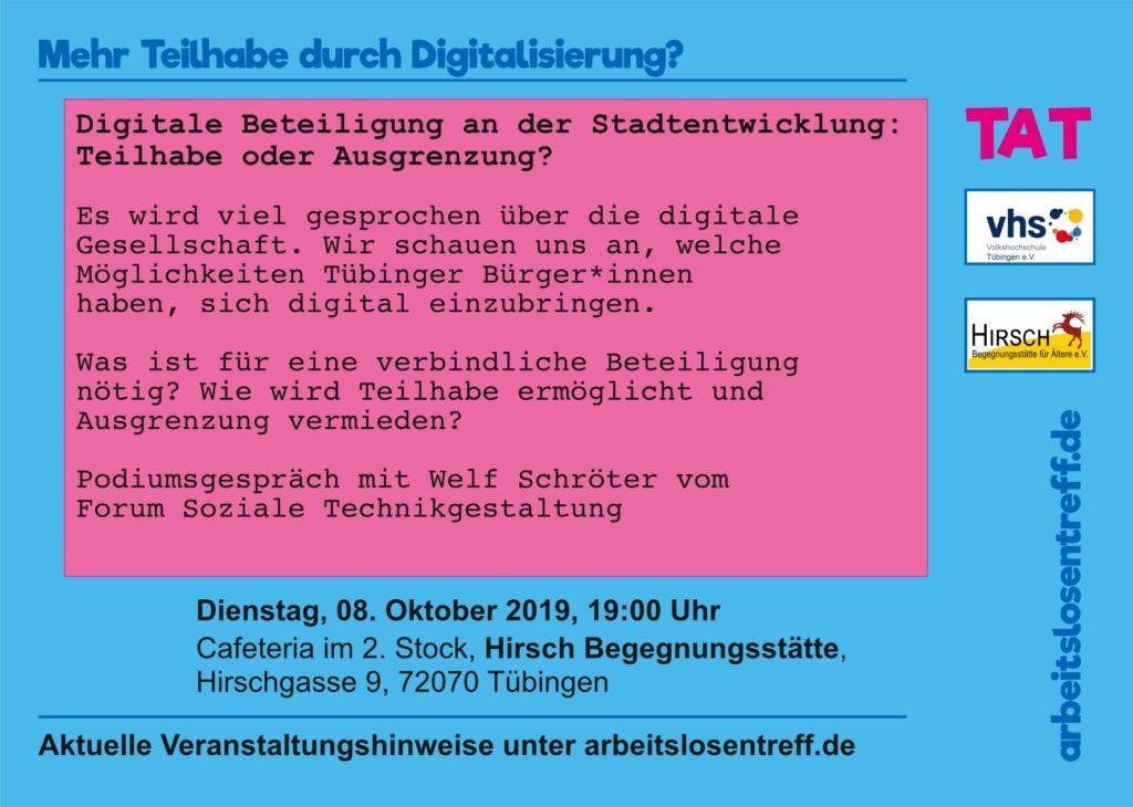 Digitale Beteiligung an der Stadtentwicklung: Teilhabe oder Ausgrenzung?
