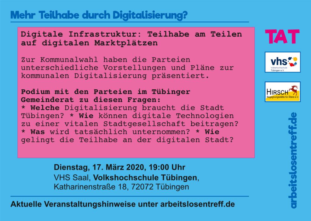 Flyer: Digitale Infrastruktur: Teilhabe am Teilen auf digitalen Marktplätzen