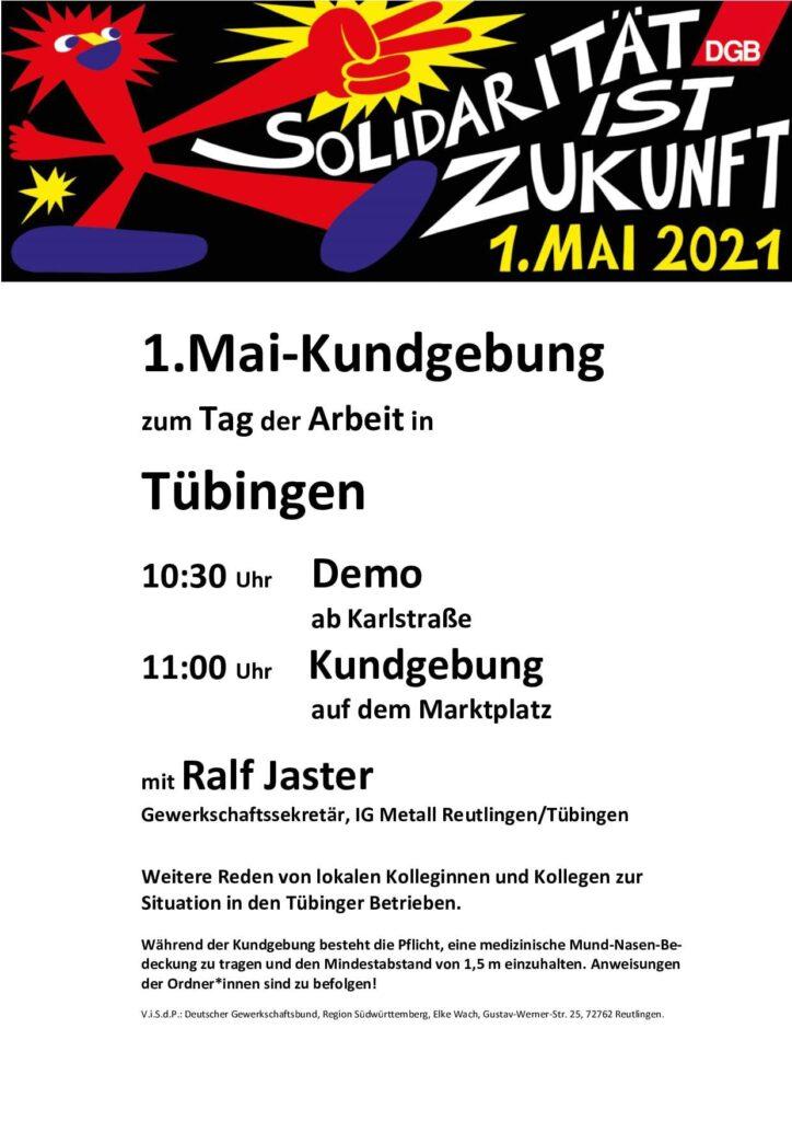 1. Mai 2021 in Tübingen