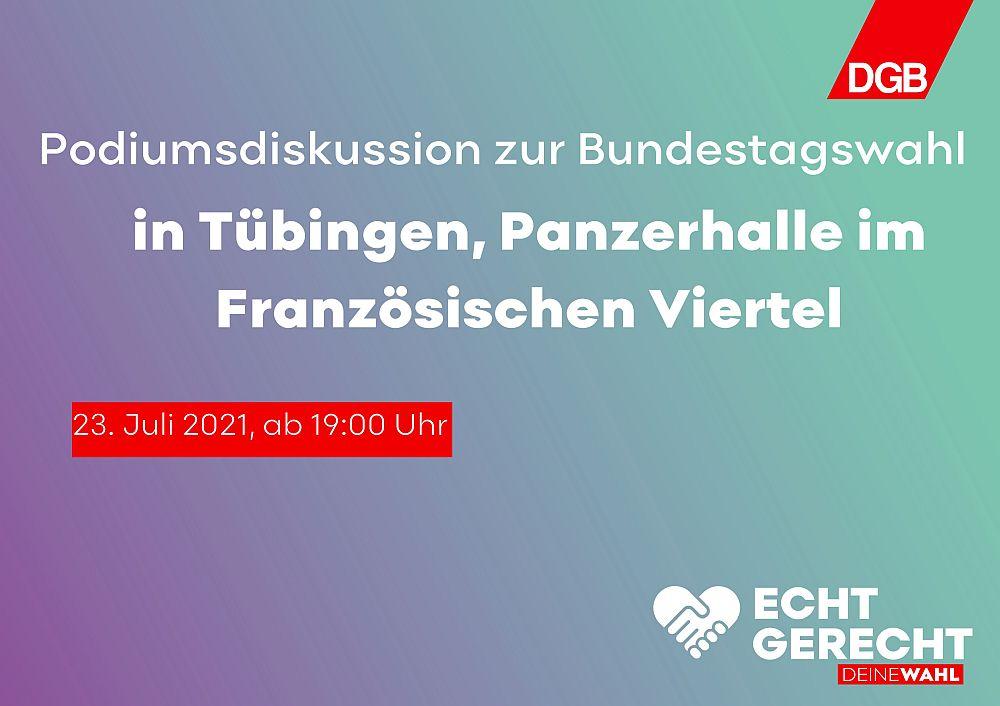 DGB-Wahlpodium Tübingen