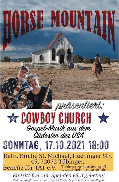 """Flyer zum Benefizkonzert """"Cowboy Church"""""""